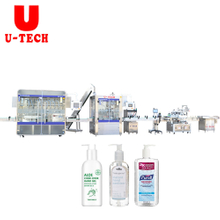 Hand sanitizer spray bottle automatic filling machine capping machine labeling machine