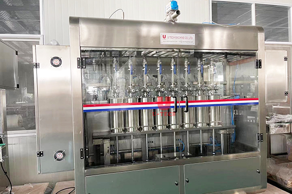 Automatic engine oil piston filling line send to Canada